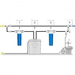 Умягчитель Аквафор WaterBoss 900 + Гросс 2 шт. + ОСМО-Кристалл 50 исп.4 + Соль 2 мешка